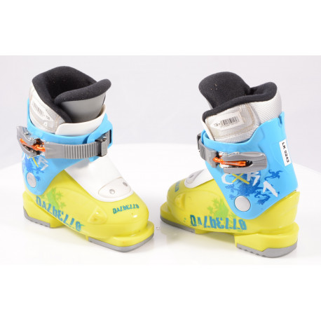 children's/junior ski boots DALBELLO CXR 1, 1 ratchet buckle, BLUE/yellow ( TOP condition )