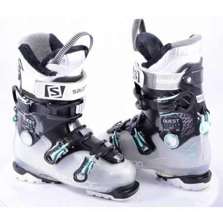 women's ski boots SALOMON QUEST ACCESS R70 W TRANS/black, SKI/WALK, Ratchet buckle, micro, macro ( TOP condition )