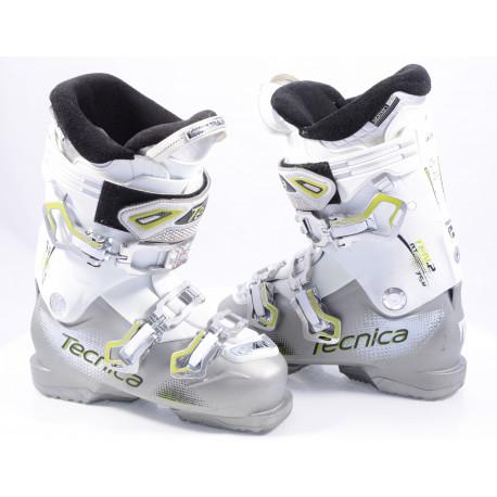 women's ski boots TECNICA TEN.2 75 W grey/white, ULTRA fit, WOMAN fit, REBOUND, adjust SKI, QUADRA tech