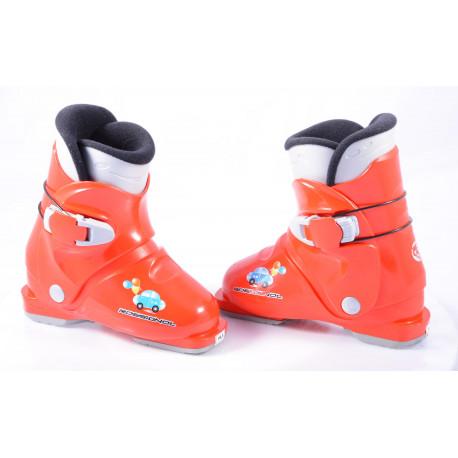 botas esquí niños ROSSIGNOL R18 car, RED ( condición TOP )