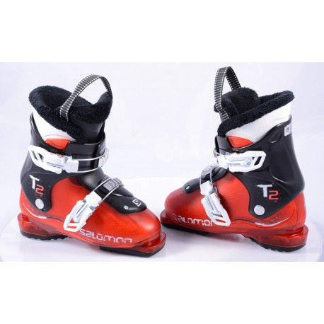 children's/junior ski boots SALOMON T2, RED/black