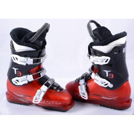 children's/junior ski boots SALOMON T3, RED/black