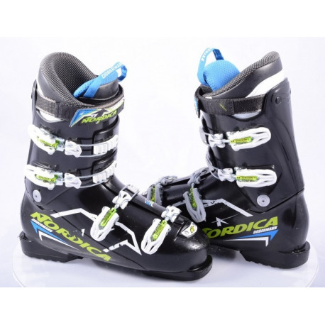 children's/junior ski boots NORDICA DOBERMANN team 60, BLACK/green, servo lock, micro, integrated profile
