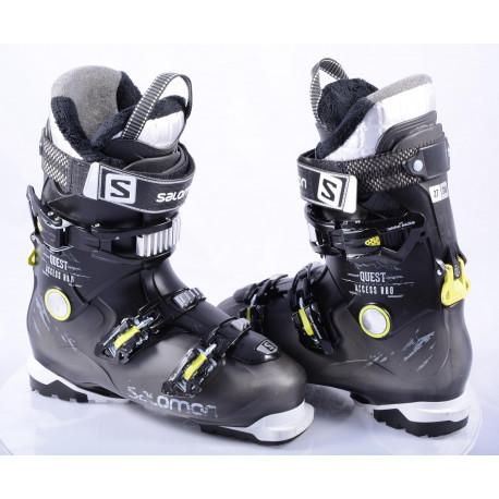 chaussures ski SALOMON QUEST ACCESS R80, Ratchet buckle, SKI/WALK, micro, macro, BLACK/lime ( en PARFAIT état )