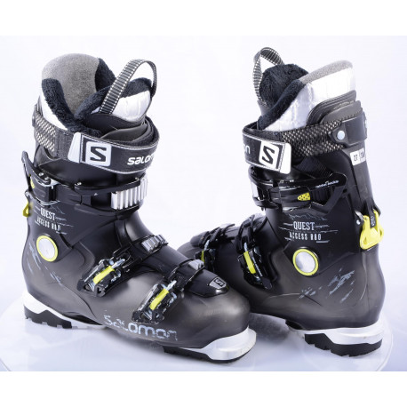 Skischuhe SALOMON QUEST ACCESS R80, Ratchet buckle, SKI/WALK, micro, macro, BLACK/lime ( TOP Zustand )