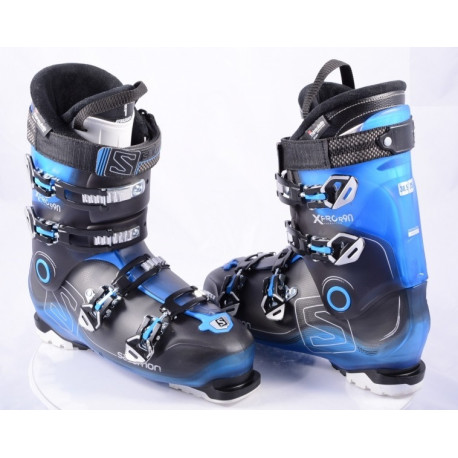 pjäxor SALOMON X PRO R90 BLACK/blue, energyzer 90, oversized pivot, my custom fit 3D, THINSULATE