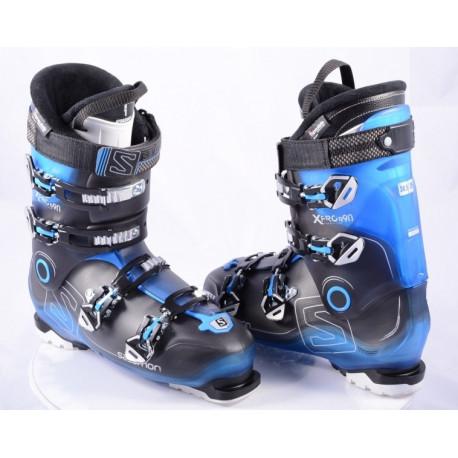 Skischuhe SALOMON X PRO R90 BLACK/blue, energyzer 90, oversized pivot, my custom fit 3D, THINSULATE