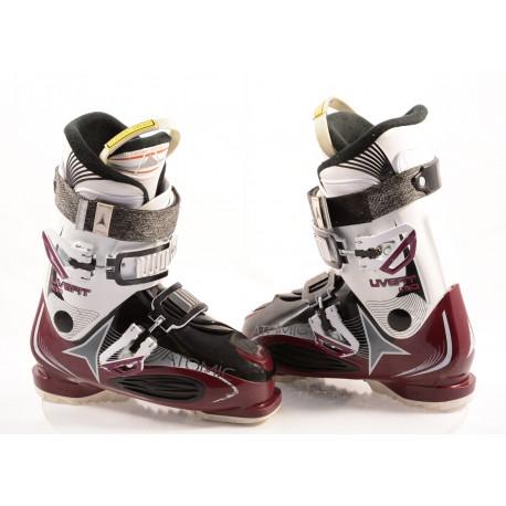chaussures ski femme ATOMIC LIVE FIT R80 BERRY, ATOMIC bronze, NAVICULAR pocket, micro, macro ( en PARFAIT état )