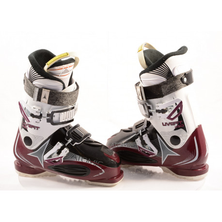 women's ski boots ATOMIC LIVE FIT R80 BERRY, ATOMIC bronze, NAVICULAR pocket, micro, macro ( TOP condition )