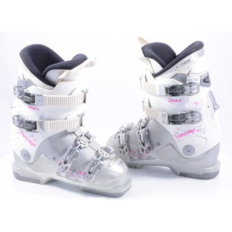 dámske lyžiarky DALBELLO VANTAGE SPORT white/pink, SKI/WALK, Ratchet buckle