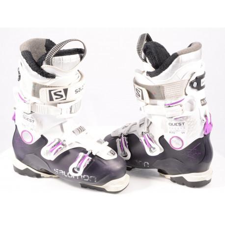 women's ski boots SALOMON QUEST ACCESS R70 W purple/white, SKI/WALK, Ratchet buckle, micro, macro