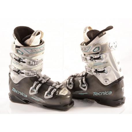 botas esquí mujer TECNICA FLING transp/white, QUADRA tech, ULTRA fit, WOMAN fit, canting, QUICK instep