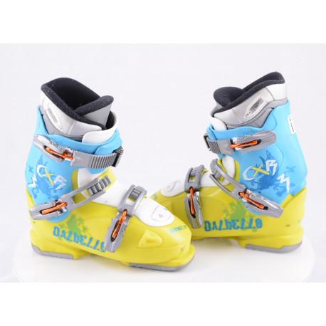 botas esquí niños DALBELLO CXR 3, ratchet buckle, BLUE/yellow ( condición TOP )