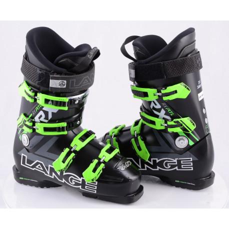 skischoenen LANGE RX 110 BLACK/green, ULTIMATE control, FLEX adj. ALU, CANTING, CONTROL fit