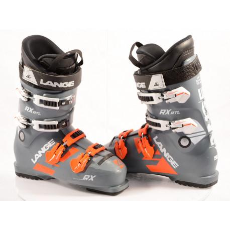 chaussures ski LANGE RX 120 RTL, GREY/orange, DUAL CORE, ERGO profile, micro, macro ( en PARFAIT état )