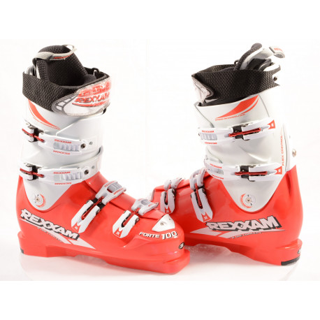 new ski boots REXXAM FORTE 100 red, ONE concept, MADE in JAPAN, TWIN canting, FLEX control, micro, macro ( NEW )