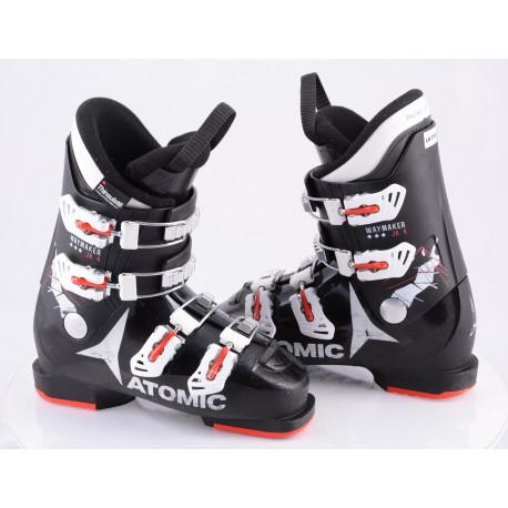children's/junior ski boots ATOMIC WAYMAKER JR 4, BLACK/red/white, THINSULATE insulation ( TOP condition )