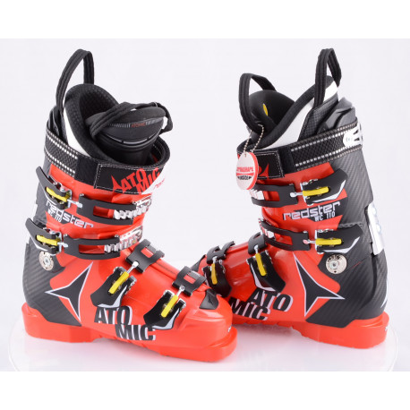lyžiarky ATOMIC REDSTER WC 110, RED/black, MEMORY FIT, ATOMIC silver, micro, macro, canting ( NOVÉ )