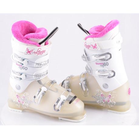 detské/juniorské lyžiarky LANGE STARLETT RSJ 60, WHITE/pink ( NOVÉ )