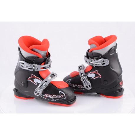 children's/junior ski boots SALOMON TEAM T2 wolf, BLACK