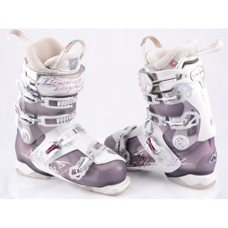 dámske lyžiarky NORDICA BELLE PRO 105, white/purple, COMFORT fit, TCF performance, micro, macro, canting ( TOP stav )