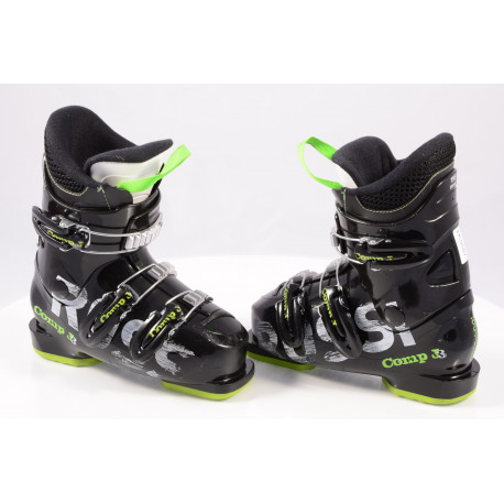 children's/junior ski boots ROSSIGNOL COMP J3, macro, BLACK/green