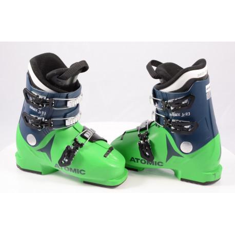 children's/junior ski boots ATOMIC HAWX JR R3 2020 GREEN/blue, THINSULATE insulation, macro ( TOP condition )