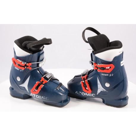 children's/junior ski boots ATOMIC HAWX JR 2 2019, BLUE/red, THINSULATE insulation ( TOP condition )