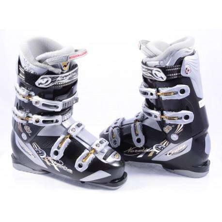 dámske lyžiarky NORDICA CRUISE NFS 65 W, micro, macro, natural foot stance, BLACK/silver ( TOP stav )