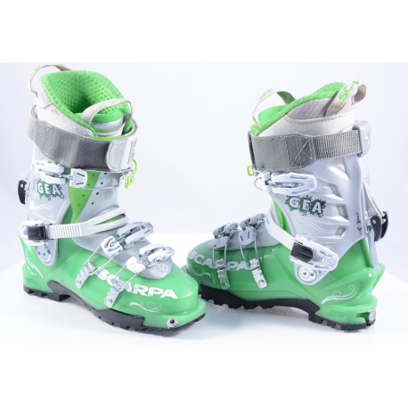 ski touring boots SCARPA GEA GREEN, SKI/WALK, micro system, axial alpine technology, canting ( TOP condition )