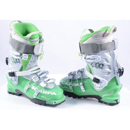 skialpové boty SCARPA GEA GREEN, SKI/WALK, micro system, axial alpine technology, canting ( TOP stav )