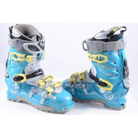 skialpinistické lyžiarky SCARPA GEA LAKE BLUE, SKI/WALK, micro system, axial alpine technology, canting ( TOP stav )