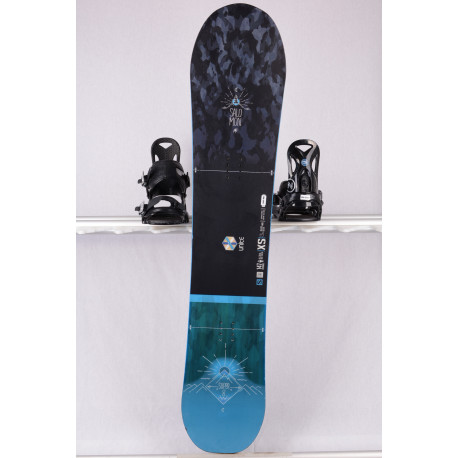 snowboard SALOMON SUPER 8 unite 2019, black/blue, freeride, woodcore, CAMBER ( TOP staat )