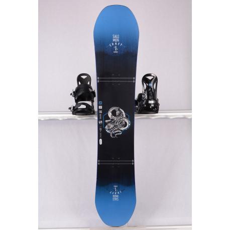 placa snowboard SALOMON CRAFT UNITE 2019, black/blue, freestyle, woodcore, sidecut, FLAT/camber ( stare TOP )