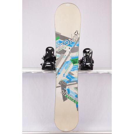 snowboard ATOMIC PIQ white/green, woodcore, sidewall, FLAT/rocker