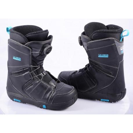 snowboard boots SALOMON FACTION BOA, BOA technology, BLACK/blue ( TOP condition )