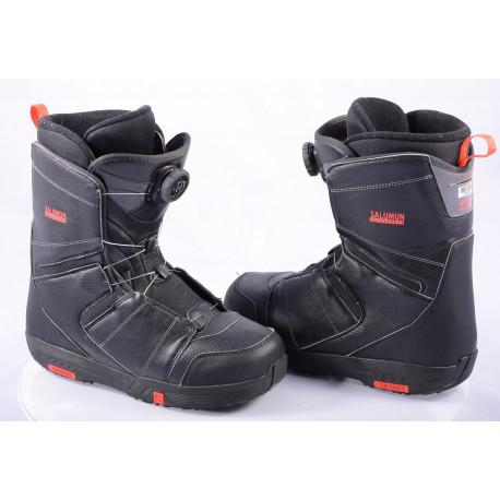 chaussures snowboard SALOMON FACTION BOA, BOA technology, BLACK/red ( en PARFAIT état )