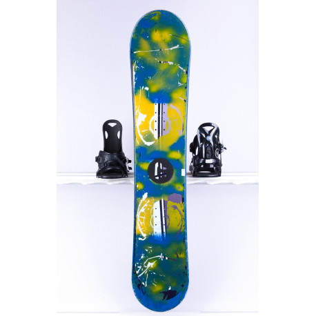 snowboard CRAZY CREEK, BLUE/yellow, Woodcore, CAMBER