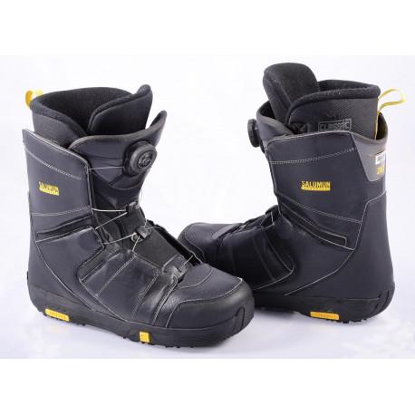chaussures snowboard SALOMON FACTION BOA, BOA technology, BLACK/yellow