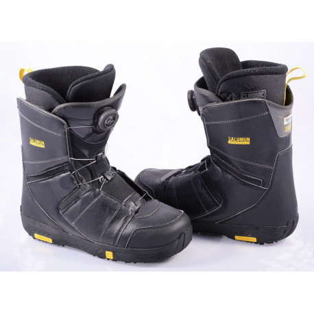 snowboard boots SALOMON FACTION BOA, BOA technology, BLACK/yellow
