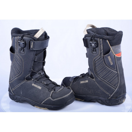 snowboard boots DEELUXE OMEGA SCL-SECTION CONTROL LACING, black/grey lines ( like NEW )