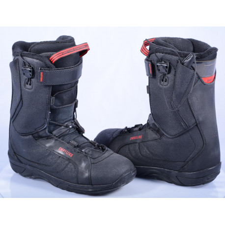 snowboardové topánky DEELUXE BETA SCL-SECTION CONTROL LACING, black/red ( ako NOVÉ )