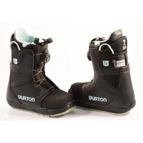 botas snowboard BURTON WOMENS PROGRESSION BOA MOTO, IMPRINT 1, BLACK/blue ( condición TOP )