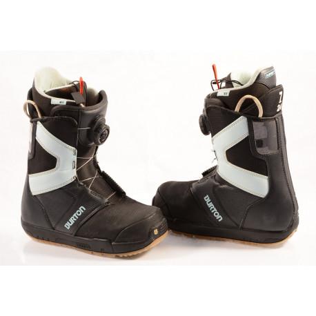 boots snowboard BURTON WOMENS PROGRESSION BOA MOTO, IMPRINT 1, BLACK/blue ( stare TOP )