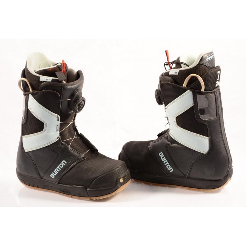 snowboardové topánky BURTON WOMENS PROGRESSION BOA MOTO, IMPRINT 1, BLACK/blue ( TOP stav )
