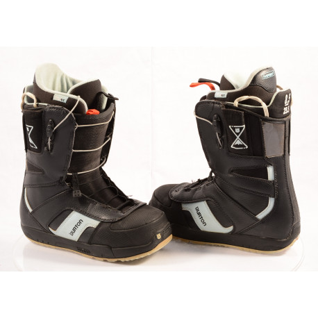 chaussures snowboard BURTON WOMENS PROGRESSION SPEEDZONE SZ, IMPRINT 1, BLACK/blue ( en PARFAIT état )