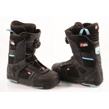 chaussures snowboard HEAD 500 4D BOA tech, BLACK/blue, ( en PARFAIT état )