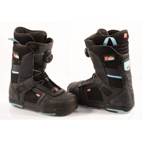 snowboard boots HEAD 500 4D BOA tech, BLACK/blue, ( TOP condition )