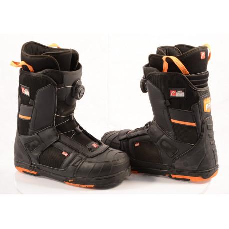 chaussures snowboard HEAD 500 4D BOA tech, POLYGIENE, BLACK/orange ( en PARFAIT état )