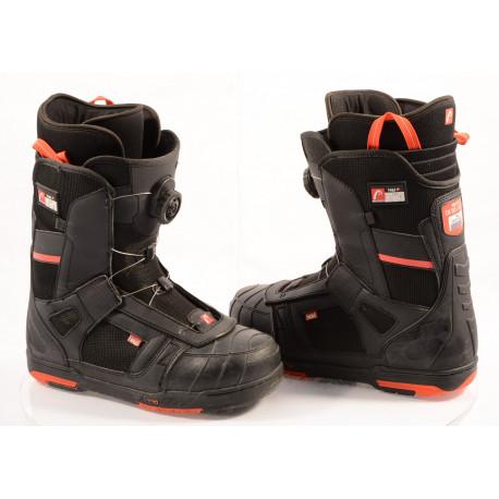 snowboardové topánky HEAD 500 4D BOA tech, POLYGIENE, BLACK/red ( TOP stav )